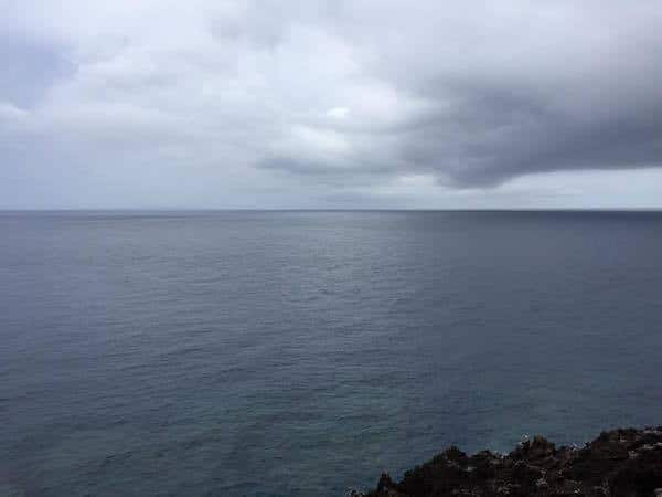 South China sea on the west, and the Pacific Ocean on the East, Cape Hedo