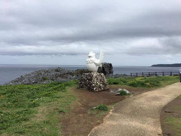 Kariyushi sculpture at Cape Hedo