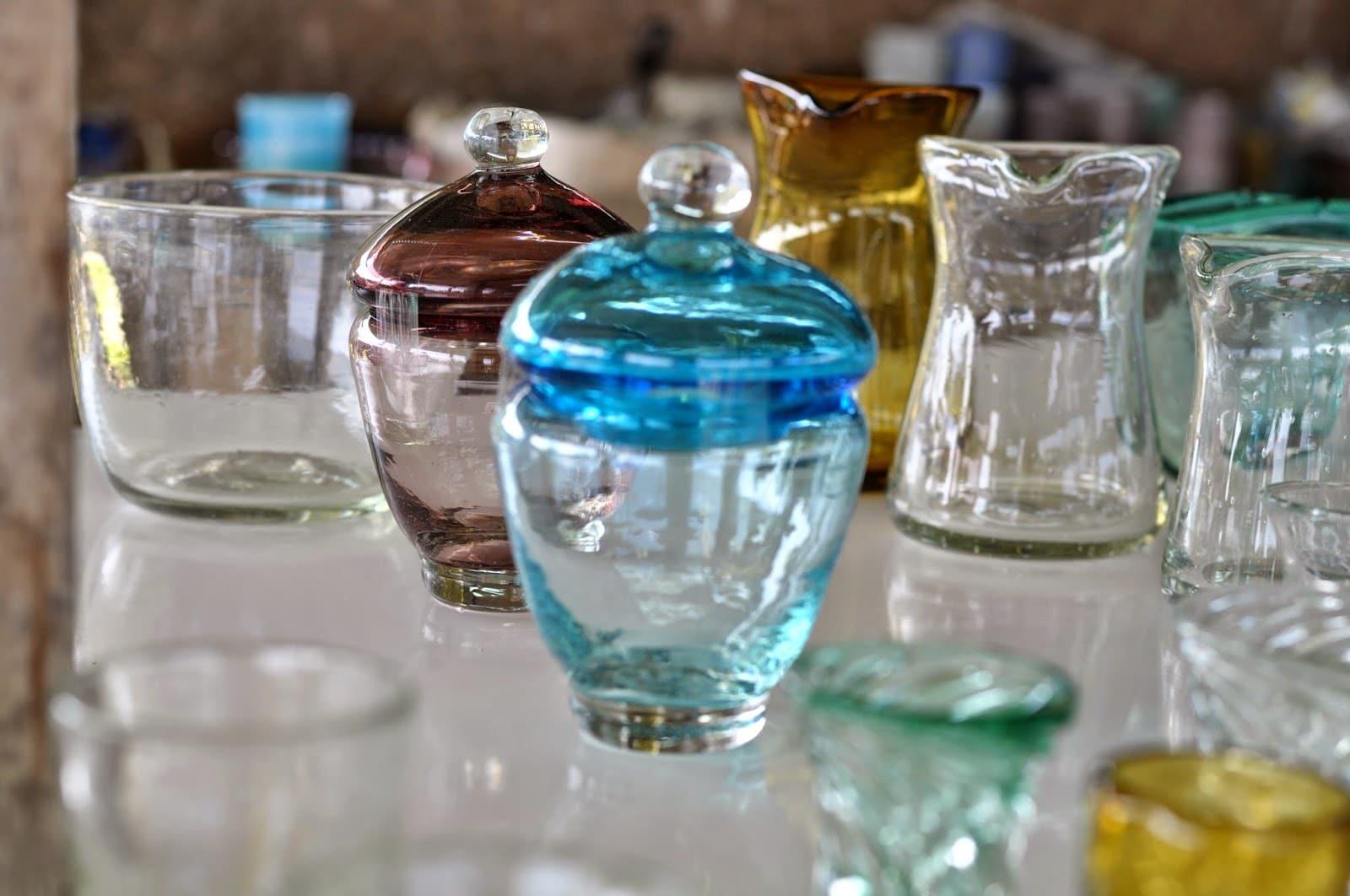 Yomitan Glass Man   Okinawa Hai