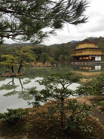 Golden Pavilion or Kinkaku-ji