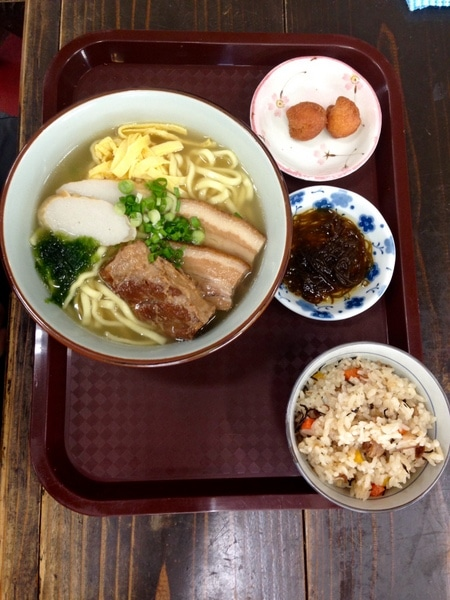 Soba Soup At Onna Station Nakayukui Market