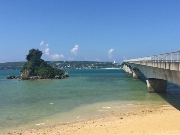 Bridge linking kouri island