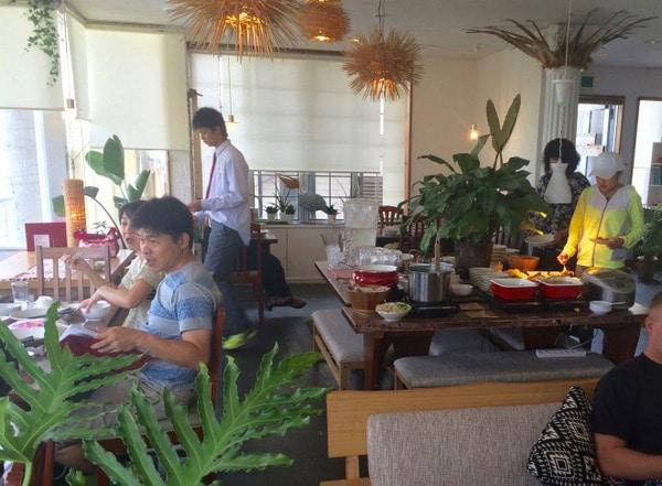 inside ThaiCoon restaurant menu