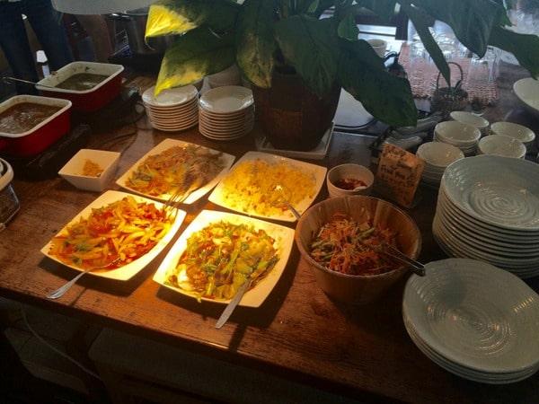 Meals served at ThaiCoon restaurant