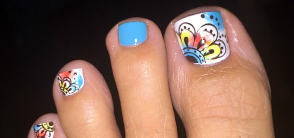 pedicure nail design done at Cocok salon