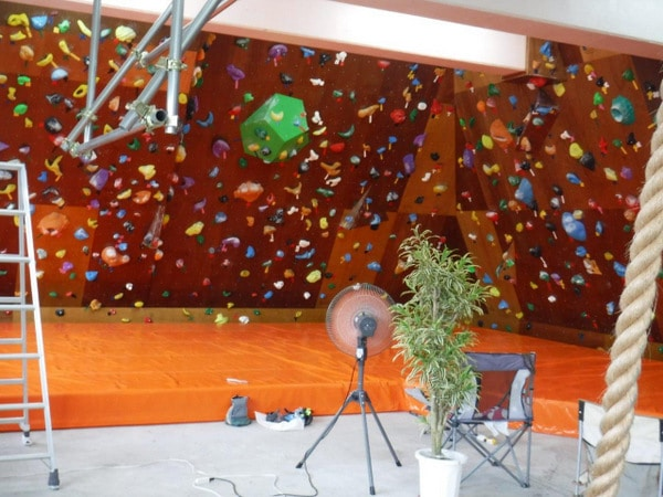 Climbing wall at Koru Piki: Rock-Climbing Gym, Ginowan